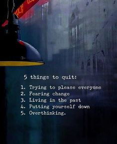 BEST LIFE QUOTES    5 things to quit. —via https://ift.tt/2eY7hg4