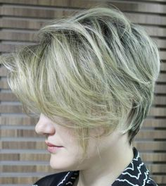 long pixie cut for fine hair more realistic with my hair - like the back even a little longer but layered love lenght of front ? is other side also long - say yes