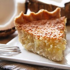 Coconut Crunch Pie ~ this looks good and not too time consuming (if you cheat and use a Pillsbury Pie crust ~ as I probably will).