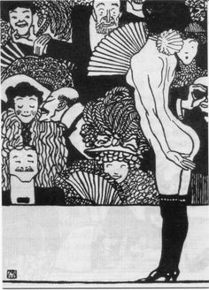 Kabarett Fledermaus I 1907 by Moriz Jung