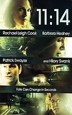 Greg Marcks' 11:14 intertwines five different storylines that all lead up to a series of events that happen one evening at 11:14. The audience is made privy to connections between the characters that they themselves are unaware of. The audience will see how various lies and deceptions lead to murder.