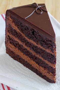 The Dark Knight is a tall, triple chocolate layer cake intensified by a blast of dark roast coffee and a secret ingredient. A gorgeously rich, moist cake. https://www.theculinarylife.com