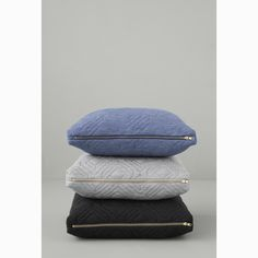 Quilt pillow 45x45, light blue – Ferm Living #interior #design #scandinavian