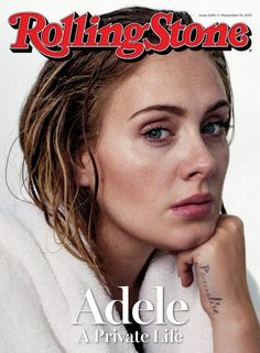"The picture fits the description ""a private life"" because it shows Adele in a way we don't normally see her. Because of it being that simple it is effective and that is all that needs to be put in the front of the magazine. The only thing that isn't all that effective is that there isn't much color to it, just the ""rolling stone"" logo then the rest is white."