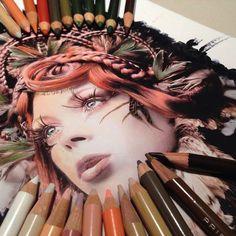 Hyperrealistische Zeichnungen von Karla Mialynne