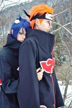 Naruto cosplay #anime #konan #pain Love this couple and amazing cosplay!