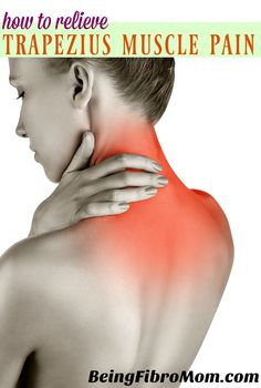 How to relieve trapezius muscle pain linked to fibromyalgia #trapeziusmuscle #fibromyalgia #beingfibromom