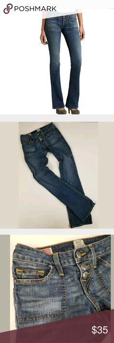 True Religion Jeans Size 26 True Religion Medium Wash Boot Cut Waist Size 26 Inseam 33 Rise 7 True Religion Jeans Boot Cut