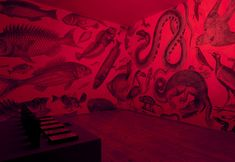 RGB Murals that Transform under color filters by Carnovsky