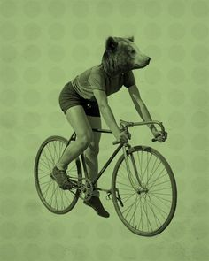 It'd be cooler if it was a dog riding a bicycle.