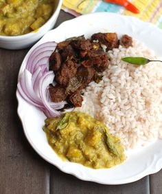 Ingredients (Serves Ethakka / raw banana – 1 medium-large, cubed Water – Around cups or as required Turmeric powder – tsp Chilly powder – tsp Curry leaves – A few . Lunch Snacks, Lunch Recipes, Vegetarian Recipes, Dinner Recipes, Kerala Food, Biryani Recipe, Food Crafts, Indian Food Recipes, Curry