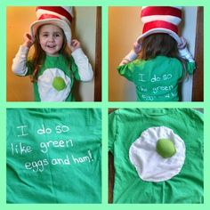 character day spirit week Green eggs and ham t-shirt for Dr. Dr Seuss Costumes, Diy Costumes, Book Costumes, Dr Seuss Week, Dr Suess, Dr Seuss T Shirts, Theodor Seuss Geisel, Book Character Costumes, Crazy Hat Day