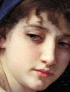 William Adolphe Bouguereau, work in detail 😍 Classic Portraits, Classic Paintings, Contemporary Paintings, William Adolphe Bouguereau, Academic Art, Guache, Greek Art, Classical Art, Renaissance Art