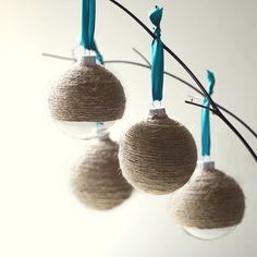 Twine Ornaments #DIY #ornaments #Christmas