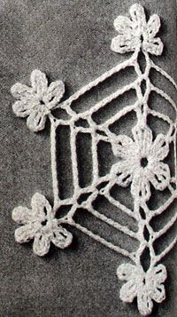 Crochet a Web Snowflake