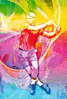 Rafael Nadal Colorful