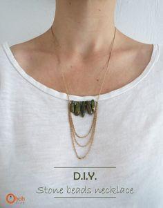 DIY stone beads necklace