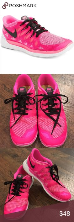 Nike Free 5.0 Pink Running Shoes Super lightweight and comfortable. Perfect for a run or running errands. Like new condition. Nike Shoes Sneakers