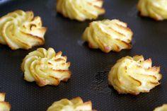 Pommes duchesse. Et aussi les recettes des pommes de terre Amandines et des pommes Berny.. La recette par Chef Simon.