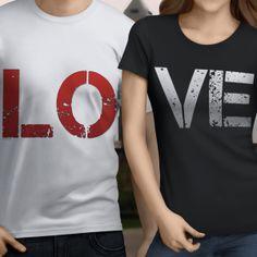Couples Love T-shirt Men's Unisex & Ladies Tee's starting at 15.50 #AriesTee