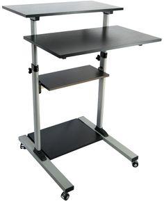 Mobile Height Adjustable Stand Up Desk/ Computer Work Station Presentation Cart #VIVO
