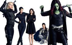 Télécharger fonds d'écran Avengers Infinity War, 2018, photoshoot, fantastique film, les acteurs, Marvel, Zoe Saldana, Scarlett Johansson, Cobie Smulders, Linda Cardellini, Tessa Thompson