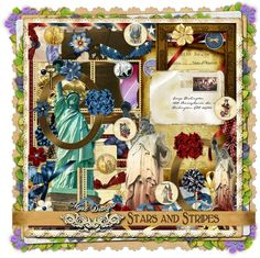 Digital Scrapbooking, Whimsical, My Design, Stripes, Kit, Stars, Frame, Divas, Memories