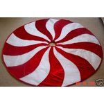 Candy Cane Christmas Tree Skirt.....I just bought this tree skirt and its as gorgeous as it is in this picture......... Love it!