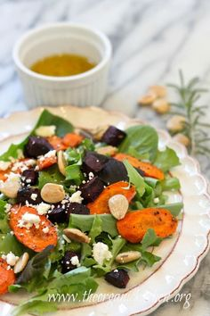 roasted beet and carrot salad | The Organic Kitchen Blog and Tutorials
