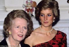 Princess Diana & the Prime Minster, Margaret Thatcher