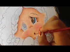 Pintura en tela niña uva # 1 con cony - YouTube