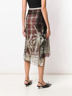 Nº21 glittered tulle-layered skirt Lace Skirt, Sequin Skirt, N21, Layered Skirt, Tree Designs, Fall Winter, Tulle, Feminine, Glitter