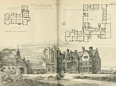 1881 – Barrow Court, Chester, Cheshire  Architect: John Douglas  Published in The Building News, October 14 1881.  0004
