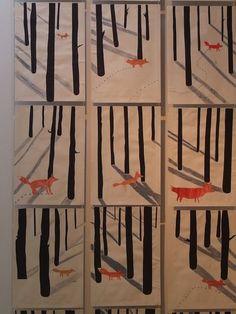 Fuchs im verschneiten Wald