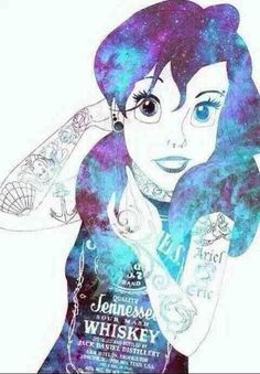 Punk Disney: My favorite Ariel Disney, Disney Art, Disney Pixar, Kawaii Disney, Disney Magic, Disney Punk Edits, Punk Disney Princesses, Emo Disney Characters, Disney Villains