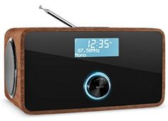 auna DABStep Internet Radio digitale (mediaplayer, bluetooth, sintonizzatore DAB/DAB+, WiFi, telecomando) - noce