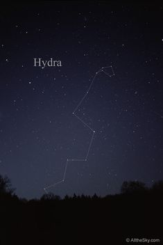 Visual Constellation Photos - Hydra, the water snake