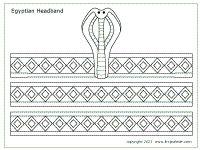printable egyptian headband