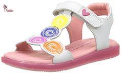 Agatha Ruiz de la Prada Patchsand, Sandales Bout Ouvert Fille, Blanc (Blanco Y Estampado Circulos), 27 EU - Chaussures agatha ruiz de la prada (*Partner-Link)