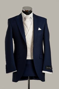 Midnight blue with classic white | Harrogate | groom men's fashion suit | groom gay