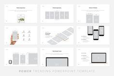 Power-Minimal Powerpoint Template by Dublin_Design on @creativemarket