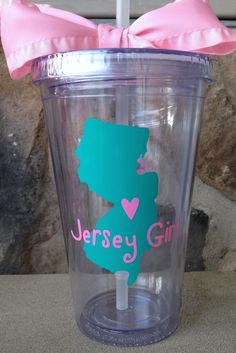Personalized Jersey Girl cup by SweetSerendipityShop, $13.00