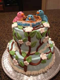 Cat's Cake Creations: Baby Bird Baby Shower Cake