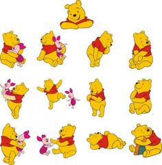 winnie the pooh vector material Free Vector