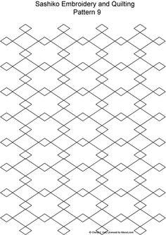 Sashiko Pattern 12: Sashiko Pattern 9
