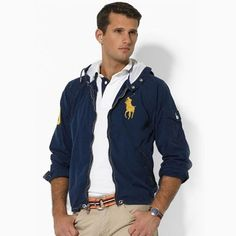 Ralph Lauren Herren Hooded Cotton Jacke in Navy