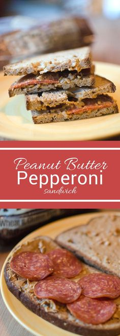 Sometimes the most unusual combination can be the most delicious. This peanut butter and pepperoni sandwich is protein packed and delicious!