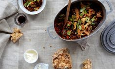 Get Ahead: A warming black bean, chorizo and pork belly stew with crispy crackling is a sumptuous centrepiece that can also give life during your busy week to a quick lunchtime burrito, a spicy Mexican tamale pie and a 'sloppy joe' pork belly bun