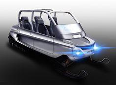 whitefox four seater snowmobile designboom
