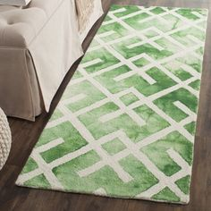 Shop for Safavieh Handmade Dip Dye Watercolor Vintage Green/ Ivory Wool Rug (2'3 x 6'). Get free shipping at Overstock.com - Your Online Home Decor Outlet Store! Get 5% in rewards with Club O!